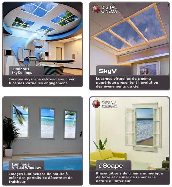 Fenêtres simulées Skyfactory