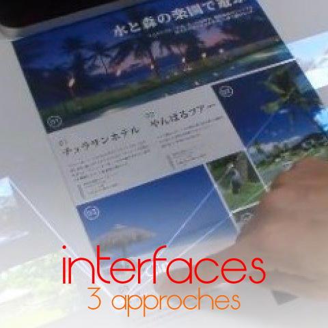 le futur des interfaces selon 3 approches